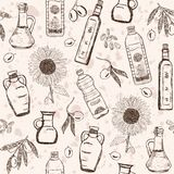 Oils seamless pattern Royalty Free Stock Images