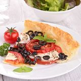 Olive and tomato tart Royalty Free Stock Photos