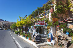 Olive Tree roadside cafe, Crete Stock Photo