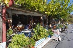 Olive Tree roadside cafe, Crete Stock Image