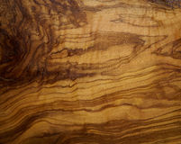 Olive tree wood texture from a wooden table Stock Images