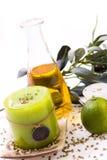 Olive und Kerzen Lizenzfreie Stockbilder