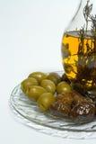 Olive und Schmieröl Stockfoto