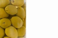 Olive in vaso immagine stock