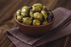 Olive verdi e bianche Fotografie Stock Libere da Diritti