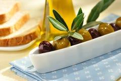 Olive verdi e nere Immagini Stock