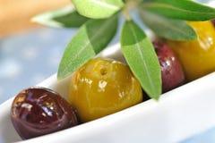 Olive verdi e nere Immagine Stock Libera da Diritti
