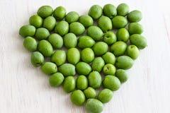Olive verdi fresche Fotografia Stock