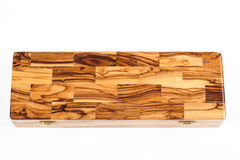 Olive wood box Royalty Free Stock Photography