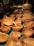 Olive Wood Carved Utensils fotografia de stock royalty free
