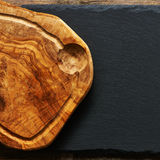 Olive wood cutting board Stock Photography