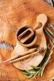 Olive wood kitchen utensil Stock Images