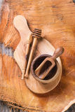 Olive wood kitchen utensil Royalty Free Stock Photos