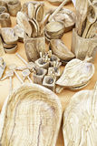 Olive wood objects Stock Photography