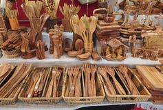 Olive Wood Products fotografia stock