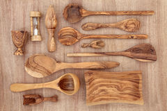 Olive Wood Products stock foto's