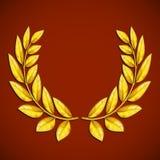 Olive Wreath dorata Simbolo della vittoria vincitore del premio Vect di riserva Fotografia Stock