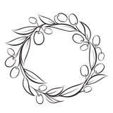 Olive wreath frame. Stock Photos