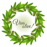 Olive wreath Royalty Free Stock Photos