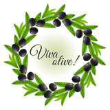Olive wreath Stock Photo