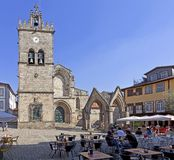 Oliveira Square and Church, Guimaraes, Portugal Stock Image