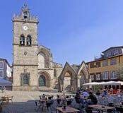 Oliveira Square and Church, Guimaraes, Portugal stock image