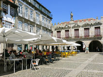 Oliveira Square en Guimaraes, Portugal Imagen de archivo