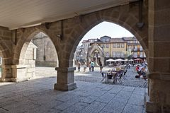 Oliveira Square, Guimaraes, Portugal Royalty Free Stock Images