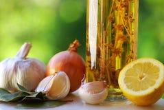 Olivenöl. Stockbild