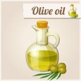Olivenöl in der Flasche Stockbild