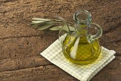 Olivenöl der Jungfrau Stockbild