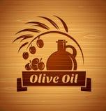 Olivenöl-Designschablonen des Vektors für Ihr Design lizenzfreie abbildung