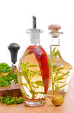 Olivenöl-Flaschen stockfotografie