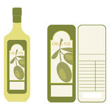 Olivenöl-Kennsatz Stockfotografie