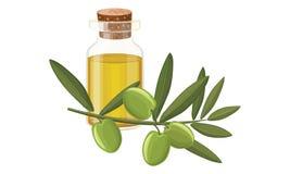 Olivenöl, Oliven Lizenzfreies Stockbild