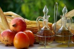 Olivenöl und Essig Stockbilder