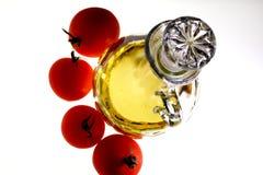 Olivenöl und Tomaten Lizenzfreies Stockbild