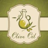 Olivenöl. Weinleseaufkleber. Lizenzfreie Stockfotos