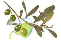 OlivenölCruet stock abbildung
