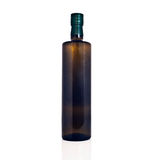 Olivenölflasche lokalisiert Stockfotografie