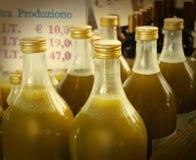 Olivenölflaschen Lizenzfreie Stockbilder