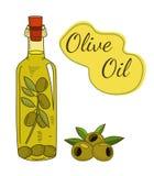 Olivenölflaschenillustration vektor abbildung