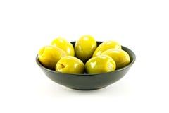 Oliven in einer Schüssel Lizenzfreie Stockfotos