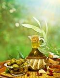 Oliven im Morgengarten Lizenzfreies Stockfoto