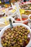 Oliven im System Stockfotografie