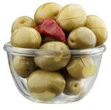 Oliven mit Pfeffer Lizenzfreies Stockfoto