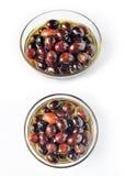 Oliven in Schmieröl 011 Stockbilder