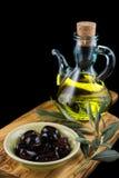 Oliven und Öl Lizenzfreie Stockbilder