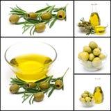 Oliven und Olivenöl Lizenzfreies Stockbild