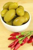 Oliven und Paprika Stockbilder
